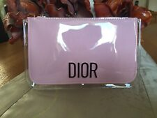 Christian Dior Designer Pink Clutch purse cosmetic make up bag pouch -BNWOT