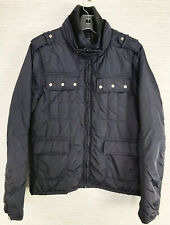 Scotch & Soda Amsterdam Men's SZ S Small Navy Blue Lightweight Jacket Mock Neck