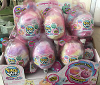 12x LOT Box Pikmi Pops Surprise Flips Cotton Candy Series Pompom 2 Scented Plush