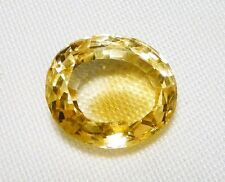 "CITRINE FACETED GEMSTONE OVAL CUT, 20ct, 16 x 18 MM ""NEW"" AUZ SELLER C173"