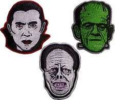 Set Universal Monsters Embroidered Patches Dracula Frankenstein Phantom of Opera