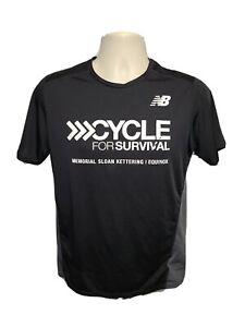 New Balance Cycle for Survival Memorial Sloan Kettering Mens Medium Black Jersey
