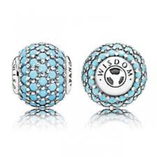 Genuine Pandora Essence Turquoise Crystal Wisdom S925 ALE Charm Bead 796065NTQ