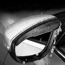 2 Piece Carbon Fiber Black Mirror Rain Visor Guard For Car Auto Accessories