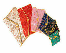 "12 Assorted Fancy Chinese Silk Pouch Bags 5.5""x3.5"" #5"