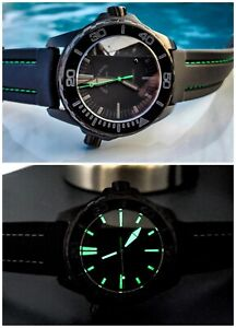 New Swiss Zeno-Watch Basel Divers Black Dial Automatic Watch 6603-BK-I18