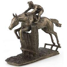 At Full Stretch David Geenty Bronze Effect Horse Sculpture Statue Ornament