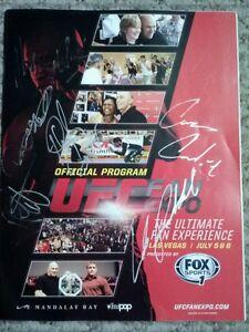 2013 UFC FAN EXPO AUTO PROGRAM CONDIT,DAVIS,ROCKHOLD, GRANT,BLAIR++!! W/BONUS!!