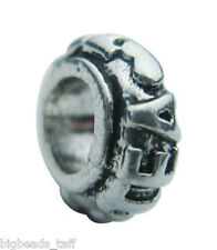 """TEA"" alloy spacer ring bead fit European style charm chains"