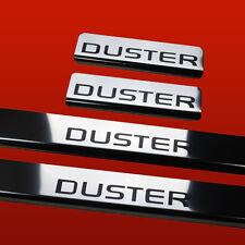 411372 4 Battitacco per Dacia Duster (Duster) Lucido Scritte in Nero