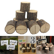 10PCS Wood Party Wedding Name Place Card Holders Home Festival Decor Tool AU