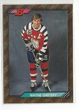 1992-93 BOWMAN # 207 WAYNE GRETZKY FOIL-GOLD NICE CARD