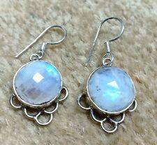 Beautiful Rainbow Moonstone 925 Silver Earring Simple Style Earring In Moonstone