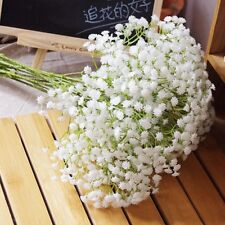 5pcs Artificial Flowers Fake Silk Floral Gypsophila Wedding Party Bouquet Decor