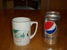 MOUNT HOOD CASCADE RANGE, OREGON, Ceramic Coffee Cup / Mug,Vintage 1964 Yr. Made