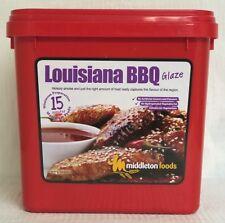 Middleton Foods 🌾 LOUISIANA BBQ Meat Glaze Marinade Seasoning Mix 2.5kg Red Tub