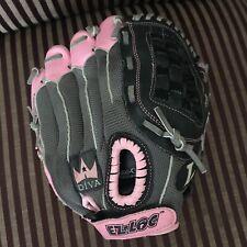 "Louisville Slugger Diva 11"" Girls Pink Baseball Glove Left Hand Throw DV1100"