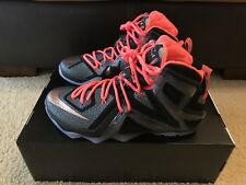 d8711a45d58 Nike LeBron XII Elite Men s sz 10.5 Black Metallic Rose Gold 724559-091 DS