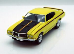 1970 Buick GSX, Yellow - Welly 22433 - 1/24 scale Diecast Model Toy Car