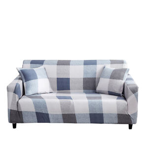 1/2/3/4 Seater Sofa Covers Plaid Stretch Slipcover Couch Elastic Sofa Protector