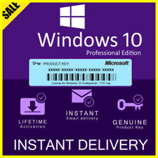 MICROSOFT WINDOWS 10 PRO🔥PROFESSIONAL ⚡GENUINE LICENSE KEY 🔑 Instant Delivery