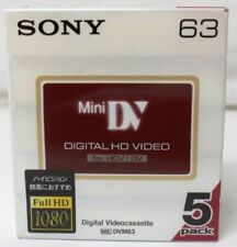 5 x Sony High Definition DVM63 Mini DV HD Camcorder Tapes - BRAND NEW