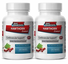 Lower Blood Pressure Supplement - Hawthorn Extract 665mg - Garlic 100 2B