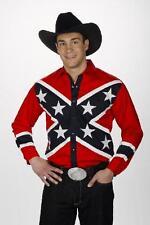 Western Express Mens BRITISH FLAG - RETRO WESTERN Shirt - 6XL - NEW -Long Sleeve