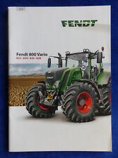 Fendt Traktor 800 Vario 2014 - Prospekt Brochure 11.2013 (0419