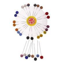 30x Crystal Diamante Hijab Scarf Pin Tailor Sewing Snag-Free Long Pin Safety