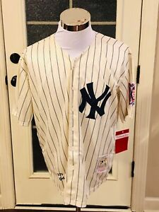 Yankees #4 Lou Gehrig Mitchell & Ness (1939) Cream Throwback Replica Jersey