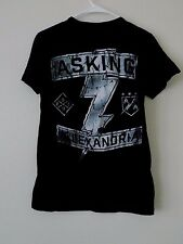 Genuine  Asking Alexandria UNISEX 2 SIDED black tee Rock n' Roll RARE T Shirt S