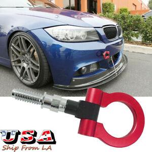 JDM Sport Red CNC Track Racing Aluminum Tow Hook For BMW 325i 328i 330i 335i E90