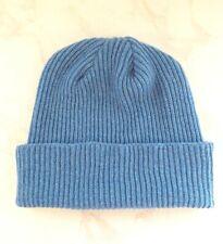 Made in Scotland Beautiful  100% CASHMERE   Beanie hat  Blue Melange