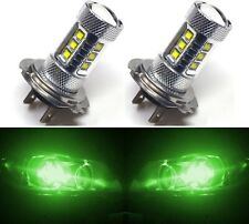 LED 80W H7 Green Two Bulbs Light DRL Daytime Lamp Replacement Show Use Fit