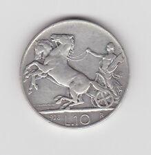 1928 ITALIA 10 LIRE MONETA D'ARGENTO