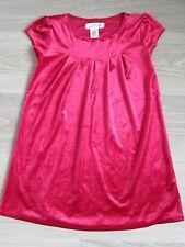 H&M Kleid Gr 122 128 neuwertig Samt rot Weihnachten Mädchen Mini Mode