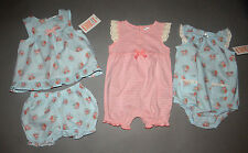 Baby girl clothes, 3 months, Carter's Just One You 2 piece outfit, 2 rompers