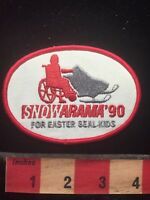 Easter Seal Snowarama Snow Fun For Wheelchair Handicapped Advertising Patch 79T3