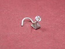 18ct White Gold (hand made) nose stud set with 0.05ct Natural Diamond
