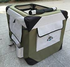 PUPPY POWER PORTABLE PET HOME, SOFT CRATE, COLLAPSIBLE DOG KENNEL-XL 102CM KHAKI