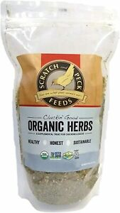 Scratch & Peck Feeds Cluckin' Good Organic Herbs for Chickens Poultry, 10 oz USA