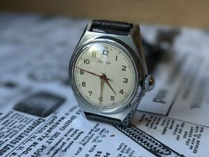 Gents Small Vintage Rotary Military Style Dauphine Hands 1940's watch - Working