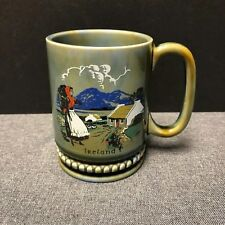 Wade Irish Porcelain Coffee Tea Cup MUG Made in Ireland 12 oz Lady Country Scene