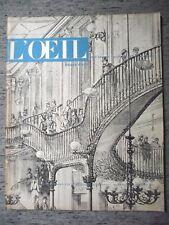 REVUE L'OEIL N°26-1957 ECHOPPE VITRINE BAROQUE PORTUGAIS MUSÉE DE LILLE CHADWICK