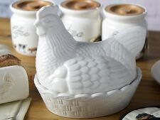 FARMERS MARKET Ceramic HEN NEST Egg Holder Storage