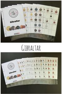 Gibraltar Inserts for Coin Folder / Album