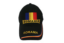 ROMANIA BLACK COUNTRY FLAG  EMBROIDERED HAT CAP ..  NEW