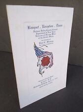 1931 Banquet Menu Veterans of Foreign Wars, in Kingston, NY