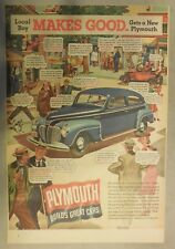 Plymouth Car Ad: Local Boy Makes Good Buys 1941 Plymouth! Size: 11 x 15 Inches
